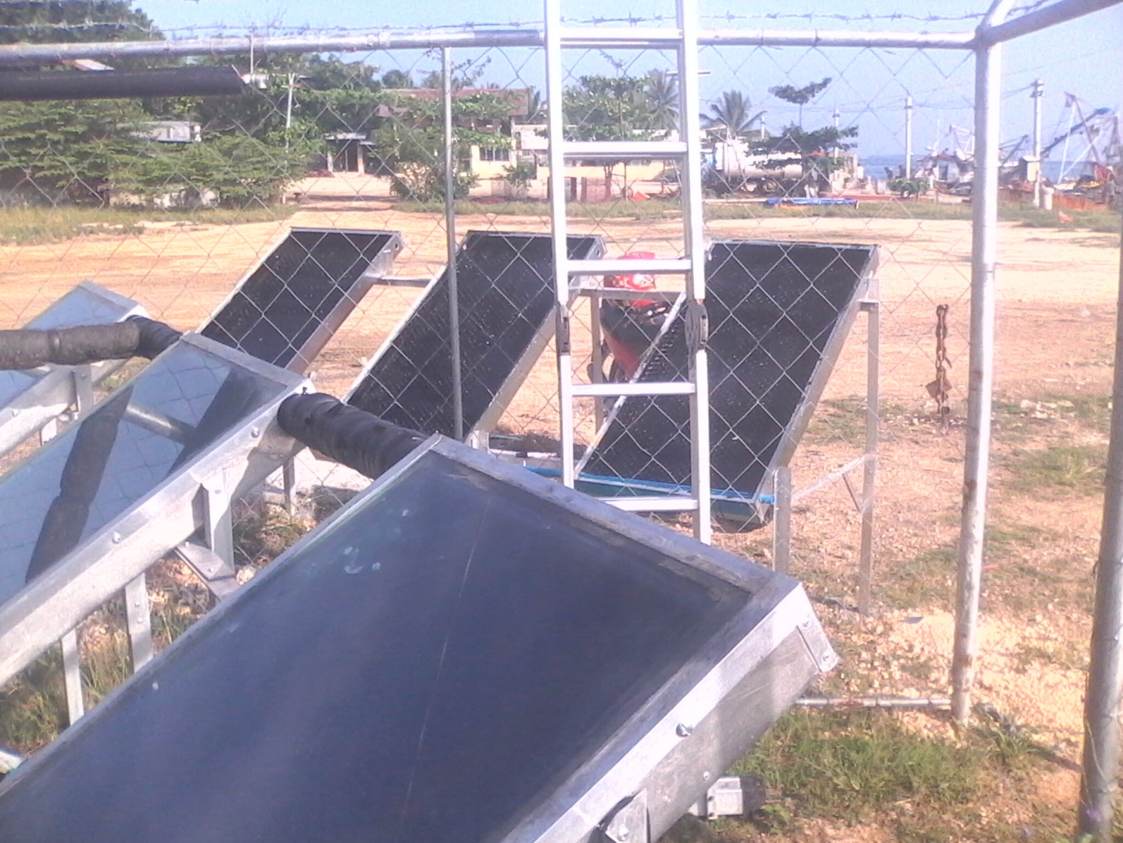 Solar Thermal Desalination system for the DOST-7