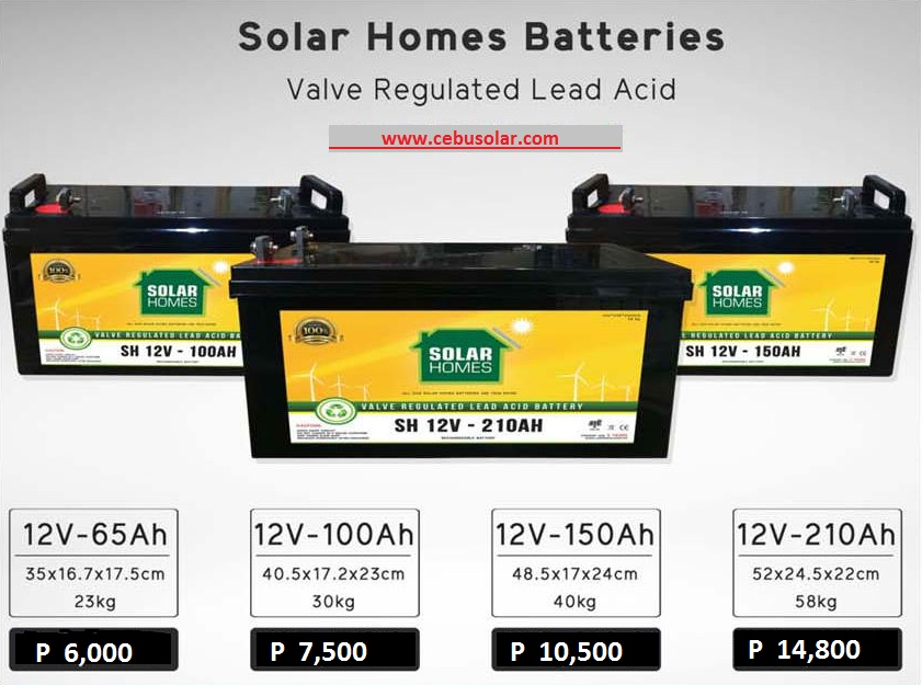 Solar Batteries For Home >> Solar Homes Batteries Cebu Solar Inc